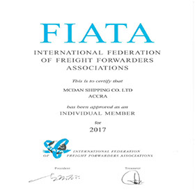 McDan Shipping Company FIATA certification for 2017